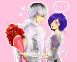 Roses for Touka-chan by Peszymer