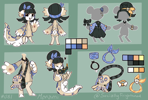 [Bagbeans] Manami Reference Sheet by SociallyFrightened