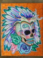 Native Sugar Skull by danimace1