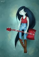 Marceline the Vampire Queen by RazSketch