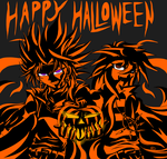 Happy Halloween from the Duo of Darkness by ElectricLimeRose