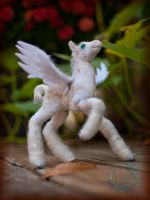Needle-felted Pegasus Foal by crocodiledreams