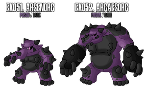 Fakemon: EX051 - EX052 by MTC-Studio