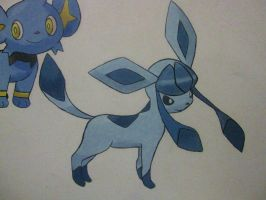 471 Glaceon - painting by Crotchmonsoon