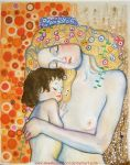 Mother_And_Child_By_Klimt by missbeautifool