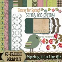 Spring Scrapbook Kit by starsunflowerstudio