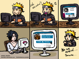 Naruto using Social Networks... by DSenderM