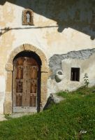 LES LANCHES CHAPEL, DOOR AND FONT by isabelle13280