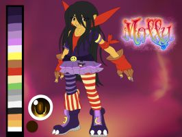 Molly The Impmon Fanatic NEW LOOK! by TurquoiseWolfStar7
