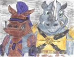 Tmnt 2012: Rocksteady and Beebop by brookellyn