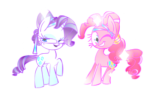 Crystal Rarity and Pinkie Pie by Mushroom-Cookie-Bear