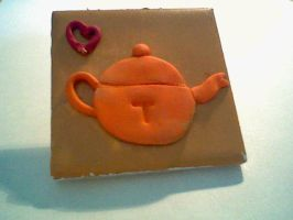 Tea pot tile by Joy-Pedler