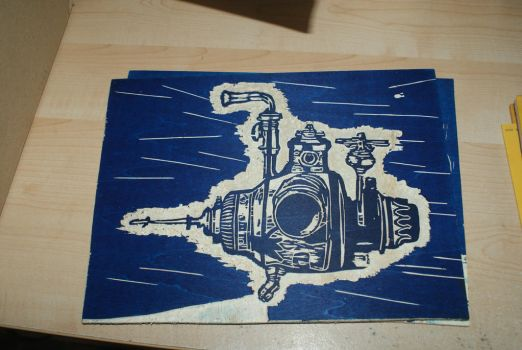 Submarine 2 - On wood by Katsmoka