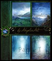 Premade backgrounds - Pack-I by AngeliaArt