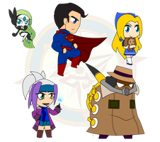 Assorted Chibis - Set 26 by Dragon-FangX