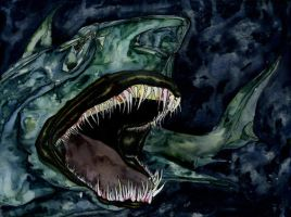 Green Shark by bigredsharks