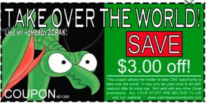 Zorak coupon by joeskie