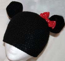 Minnie Mouse Beanie by rainbowdreamfactory