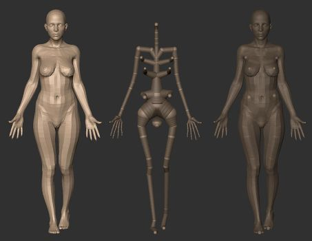 Rigging and Posing with ZSpheres. by screenlicker