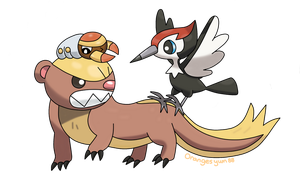 Yungoos, Pikipek and Grubbin
