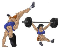 Feats of strength and balance by tj-caris
