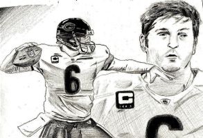 Jay Cutler Sketchcard by Jamin95