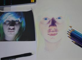 Blue Eyes Color Drawing (WIP2) by Joshua-Mozes