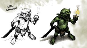 Goblin with Knife and Grenade by theoggster