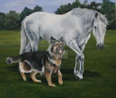 Coco and Bentley by Stephanie-Greaves