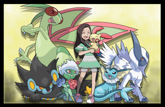 Commission - Ning-Kit's Pokemon Team by Tails19950
