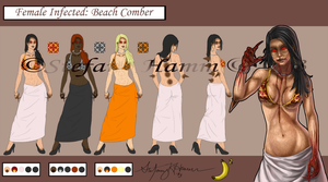 Female Infected - Beach Comber by BananaWork