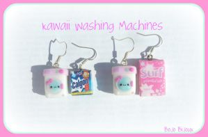 Kawaii Washin'Machine Earrings by Bojo-Bijoux