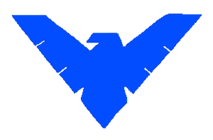 Jokerfied Nightwing Symbol by dnxpunk