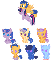 TwilightxFlash Shipping Point Adoptables by TomboyishSonicLover
