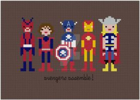 Avengers cross stitch pattern by avatarswish