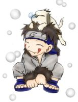 Kiba and Akamaru by magicalgoddess1987