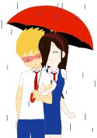 Kxk  walking in the rain by Lilychan6