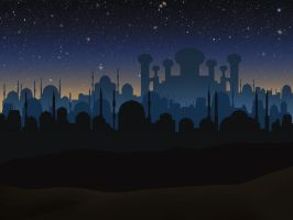 Stock: Aladdin night scene GIF twinkling stars by Greyfaerie4