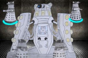 Emperor dalek with guards by Animedalek1