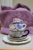 Stacked Tea Cups II by GreenEyezz-stock