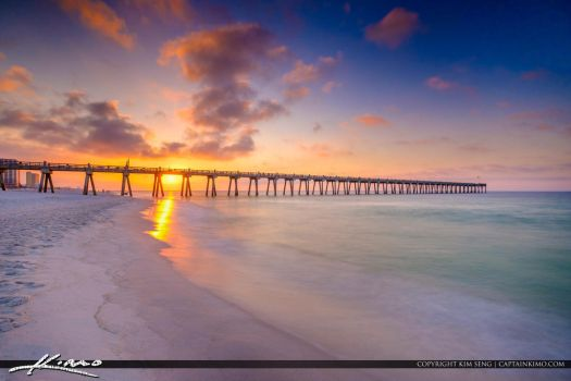 Pensacola-Beach-Gulf-Pier-Sunrise-from-the-Emerald by CaptainKimo