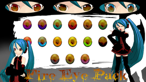 MMD Fire Eye Texture Pack by xxDraconikaxx
