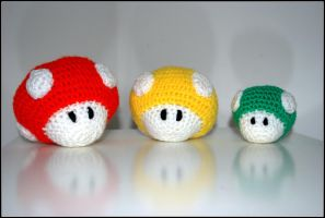 Mario Mushrooms by Orlien