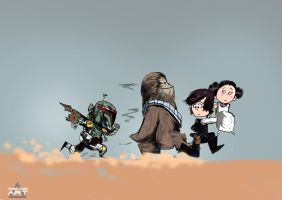 starwars by gaberoseart