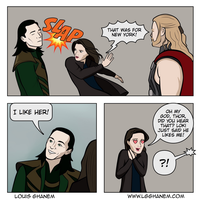 Can't Stay Mad at Loki by lgghanem