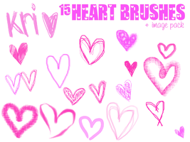 15 PSP heart brushes by almostfamousxx