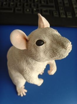 WIP rat sculpture Oli by philosophyfox