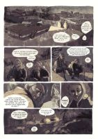 Page from Dead Souls. Liz and Miles talk by bleueapple