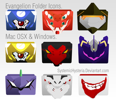 Evangelion Folder Icons _MAC+PC_ by SystemicHysteria