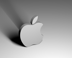 Apple Logo throwing its shadow by fun-total